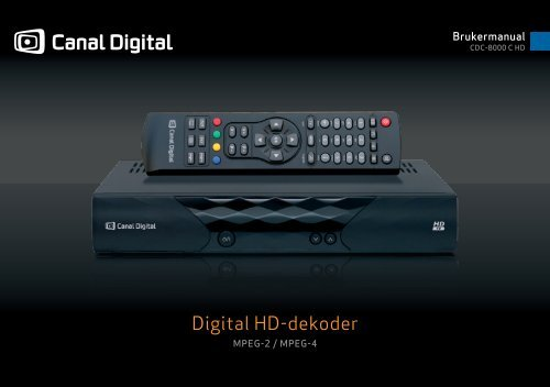 Hele manualen - Canal Digital Kabel-TV