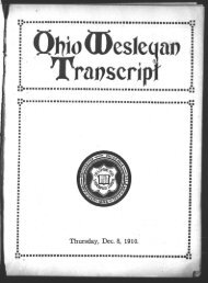 Thursday, Dec. 8, 1910. - OWU DRC Home - Ohio Wesleyan ...