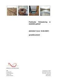 Publicatie - 'Ontwatering in stedelijk gebied' - Leven met Water ...