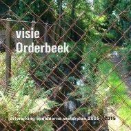 Visie Orderbeek; uitwerking apeldoorns waterplan 2005 - 2015