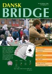 Dansk Bridge nr. 645 - Siden med 'knapperne' i den venstre ramme ...