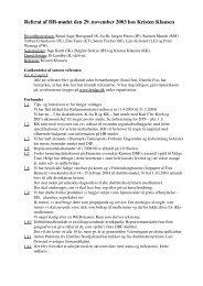 Referat af HB-mødet den 29. november 2003 hos Kristen Klausen