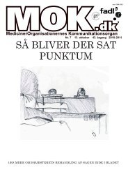 SÅ BLIVER DER SAT PUNKTUM - MOK