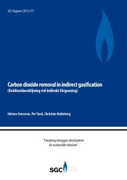 Carbon dioxide removal in indirect gasification - SGC