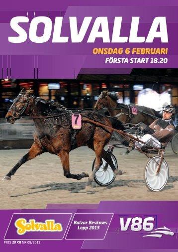 ONSDAG 6 FEBRUARI - Solvalla