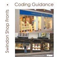 Swindon Shop Fronts Coding Guidance - Swindon Borough Council