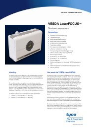 Vesda LaserFOCUS - tyco fire & integrated solutions: red liv nu