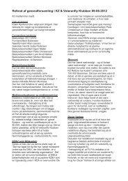 Referat af generalforsamling i KZ & Veteranfly Klubben 09-06-2012