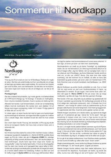 Sommertur til Nordkapp - KZ & Veteranfly Klubben