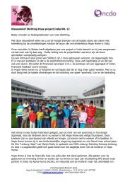 Nieuwsbrief Stichting Hope project India NR. 12 Beste ... - Home