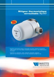 Mitigeur thermostatique verrouillable TL117 - Watts Industries