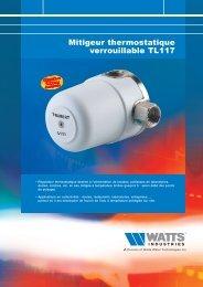 Mitigeur thermostatique verrouillable TL117 - Watts Industries