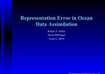 Representation Error in Ocean Data Assimilation - Weather-Chaos ...