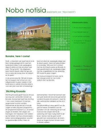 Stichting Krusada Bonaire, here I come! - Webklik