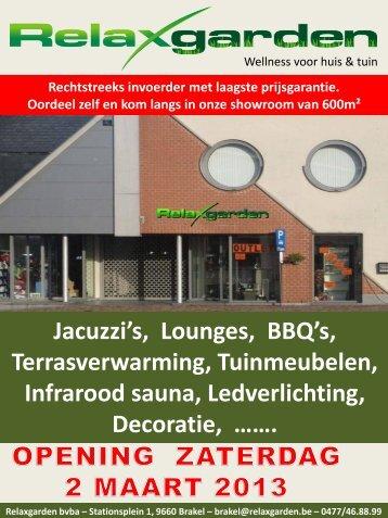 Jacuzzi's, Lounges, BBQ's, Terrasverwarming ... - Webklik