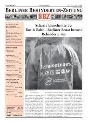 könnte IHRE Werbung stehen! - Berliner Behindertenzeitung