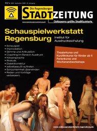 Download gesamte Ausgabe (PDF, 14817 kb) - Regensburger ...