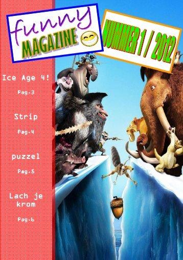 Ice Age 4! Strip puzzel Lach je krom - Webklik