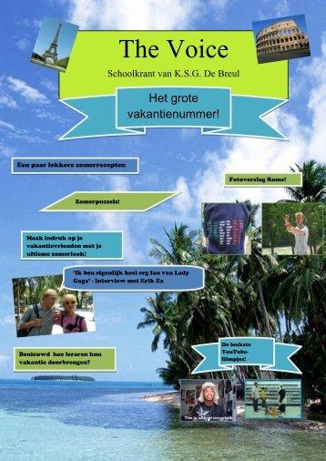 Schoolkrant van KSG De Breul - Webklik