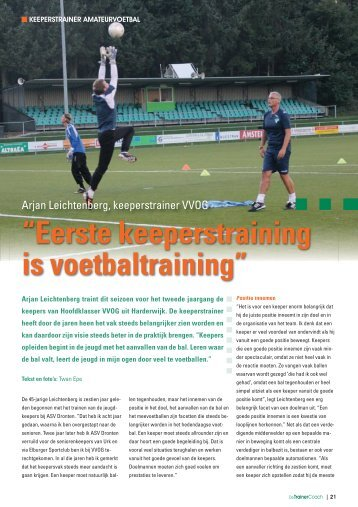 """Eerste keeperstraining is voetbaltraining"" - Webklik"