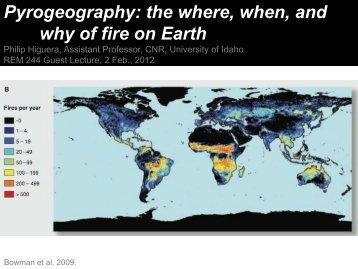 Biogeography of Fire (PDF) - University of Idaho