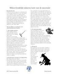 Milieuvriendelijk tuinieren - WECF