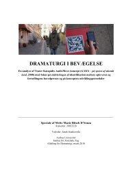 DRAMATURGI I BEVÆGELSE - Aarhus Universitet