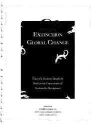 Extinction & Global Change - Aspen Global Change Institute