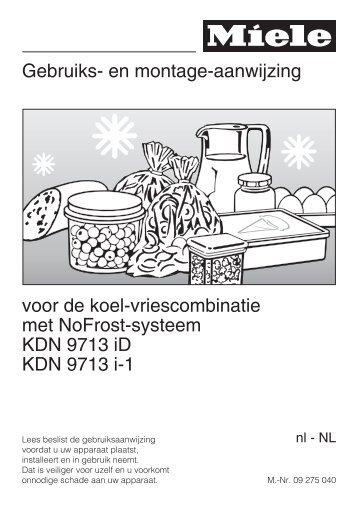 Miele KDN9713I-1 inbouw koelvriescombinatie 178 cm - Wehkamp.nl