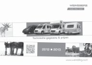 Technische gegevens & prijzen - Weinsberg