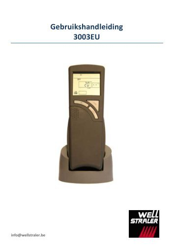 Handleiding voor Skytech 3003EU - Well Straler