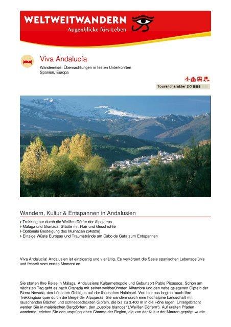 Viva Andalucía - Weltweitwandern