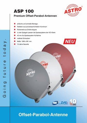 ASP 100 Premium Offset-Parabol-Antennen - Astro