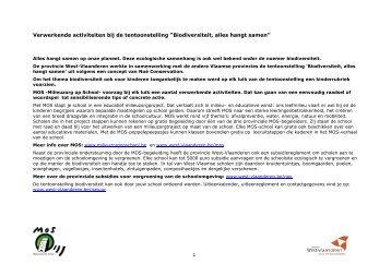 leerlingenpakket - Provincie West-Vlaanderen