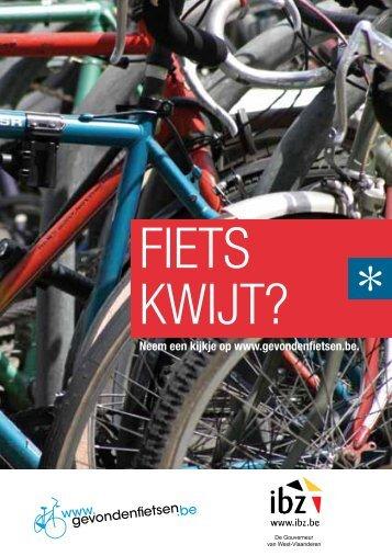 Download de flyer gevonden fietsen - Provincie West-Vlaanderen
