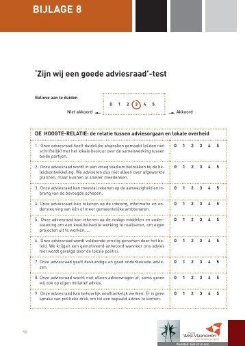 Zijn wij een goede adviesraad? Test - Provincie West-Vlaanderen