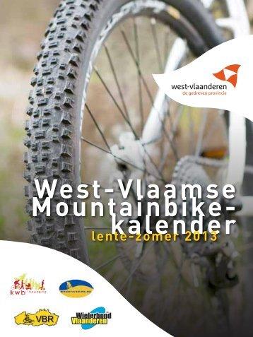 Mountainbikekalender - Provincie West-Vlaanderen