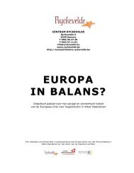 EUROPA IN BALANS? - Provincie West-Vlaanderen