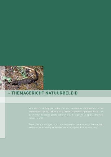¬ THEMAGERICHT NATUURBELEID - Provincie West-Vlaanderen