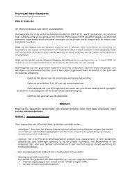 Provinciaal reglement betreffende een renovatiepremie voor ...