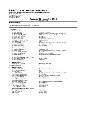 verslag nr. 136b - vergadering van 20 september 2012
