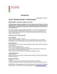 Wekelijks persbericht 7 juli 2011 - Stadsdeel West