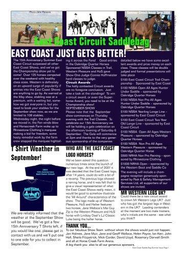 East Coast Circuit Saddlebag - western-videos.com