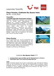 Playa Paraiso, Clubhotel Riu Buena Vista