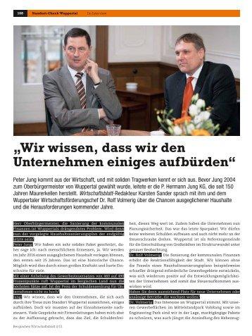 Interview - Wirtschaftsförderung Wuppertal