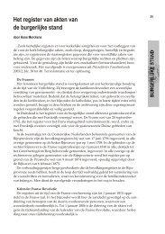 Het register van akten van de burgerlijke stand - WGOD