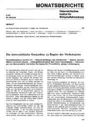 MONATSBERICHTE - Wifo