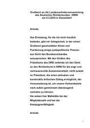 LVV 2010 (Begrüßung Frank) - Deutscher Richterbund (DRB)