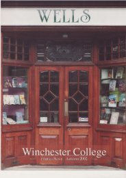 leaflet - Winchester College