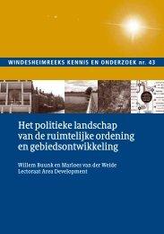 Het politieke landschap van de ruimtelijke ordening ... - Windesheim